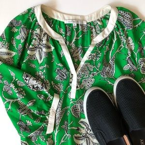 Collective Concepts Bright Green Plant Life Blouse